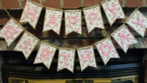 Hey, I found this really awesome Etsy listing at https://www.etsy.com/listing/237241816/shabby-chic-happy-birthday-banner-rustic