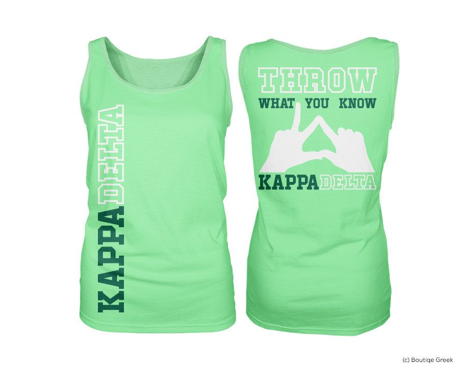 KD+Kappa+Delta+Throw+What+You+Know+Neon+Green+by+BoutiqueGreek,+$19.50