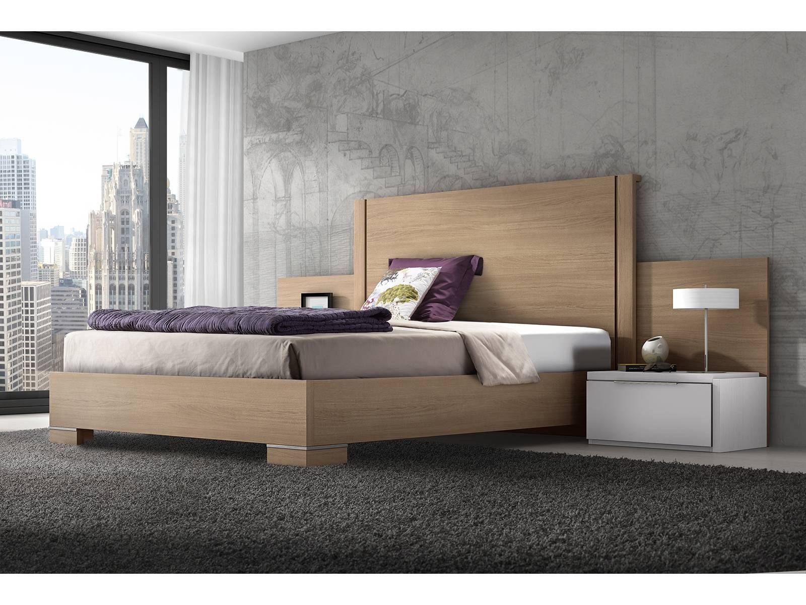 Dormitorio de matrimonio blanco / acacia El dormitorio se compone de ...