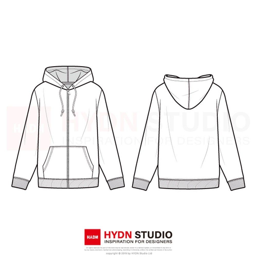 Download Zip Up Hoodie Fashion Flat Template Hoodie Fashion Fashion Mens Fashion Illustration