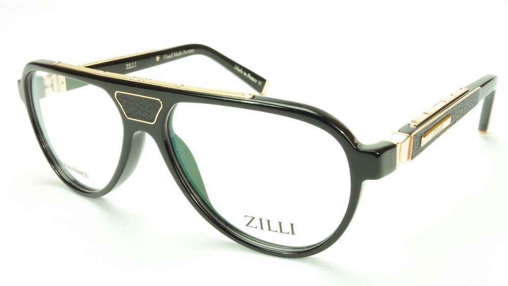 a3a34388af1 ZILLI Eyeglasses Frame Acetate Leather Titanium France Hand Made ZI 60000  C03  ZILLI