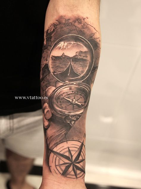 tatuajes de mapas y brujulas buscar con google sleeve pinterest tattoo tatoo and tatoos. Black Bedroom Furniture Sets. Home Design Ideas