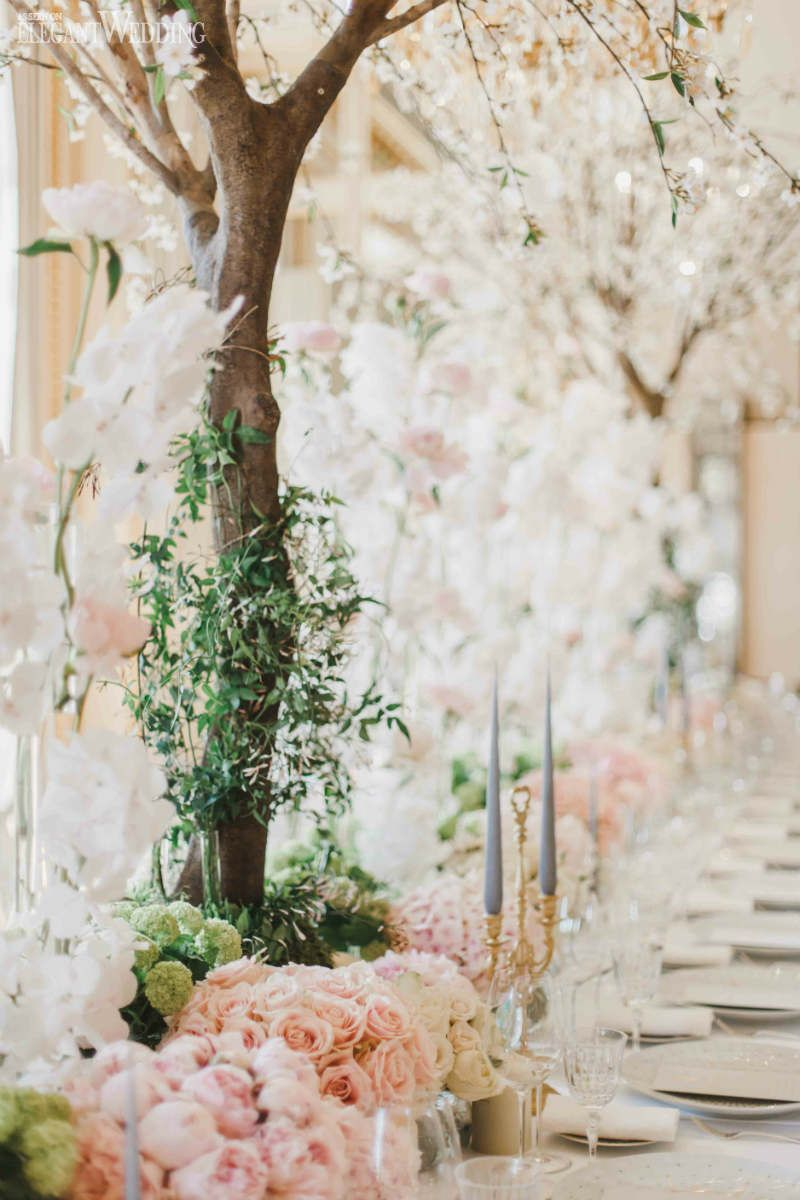 a fairytale garden wedding in paris | wedding setting