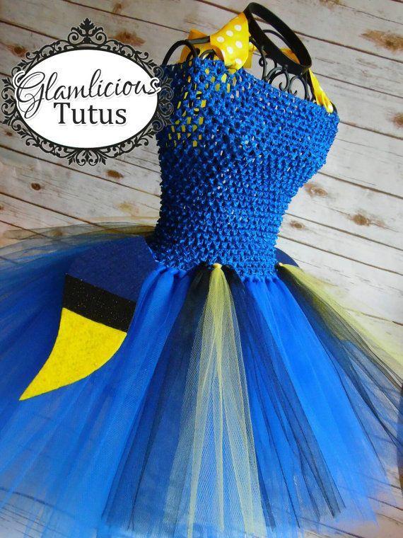 Dory Inspired Tutu Dress Costume Fish Tutu Dress Fish Costume