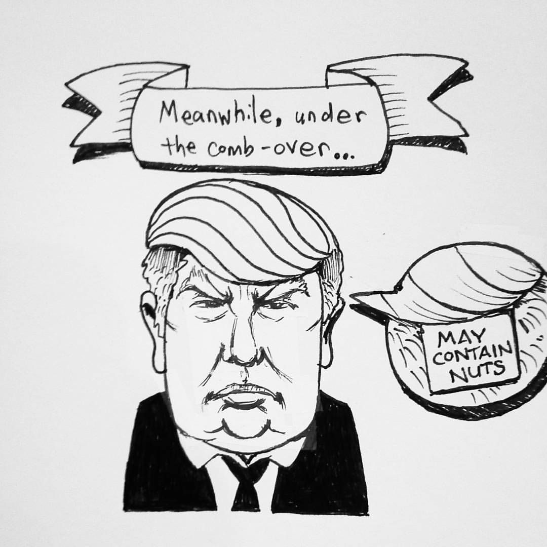 Emilys Virtual Rocket Donald Trump Belongs In An Institution - Trump draws tweets gifs of donald trump showing off his doodles and its totally hilarious