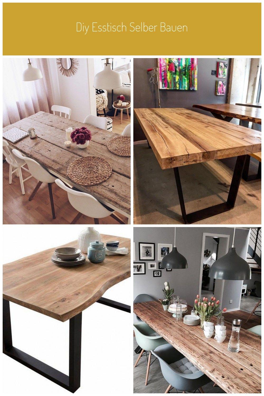 Diy Esstisch Selber Bauen Tisch Aus Alten Baudielen Esstisch