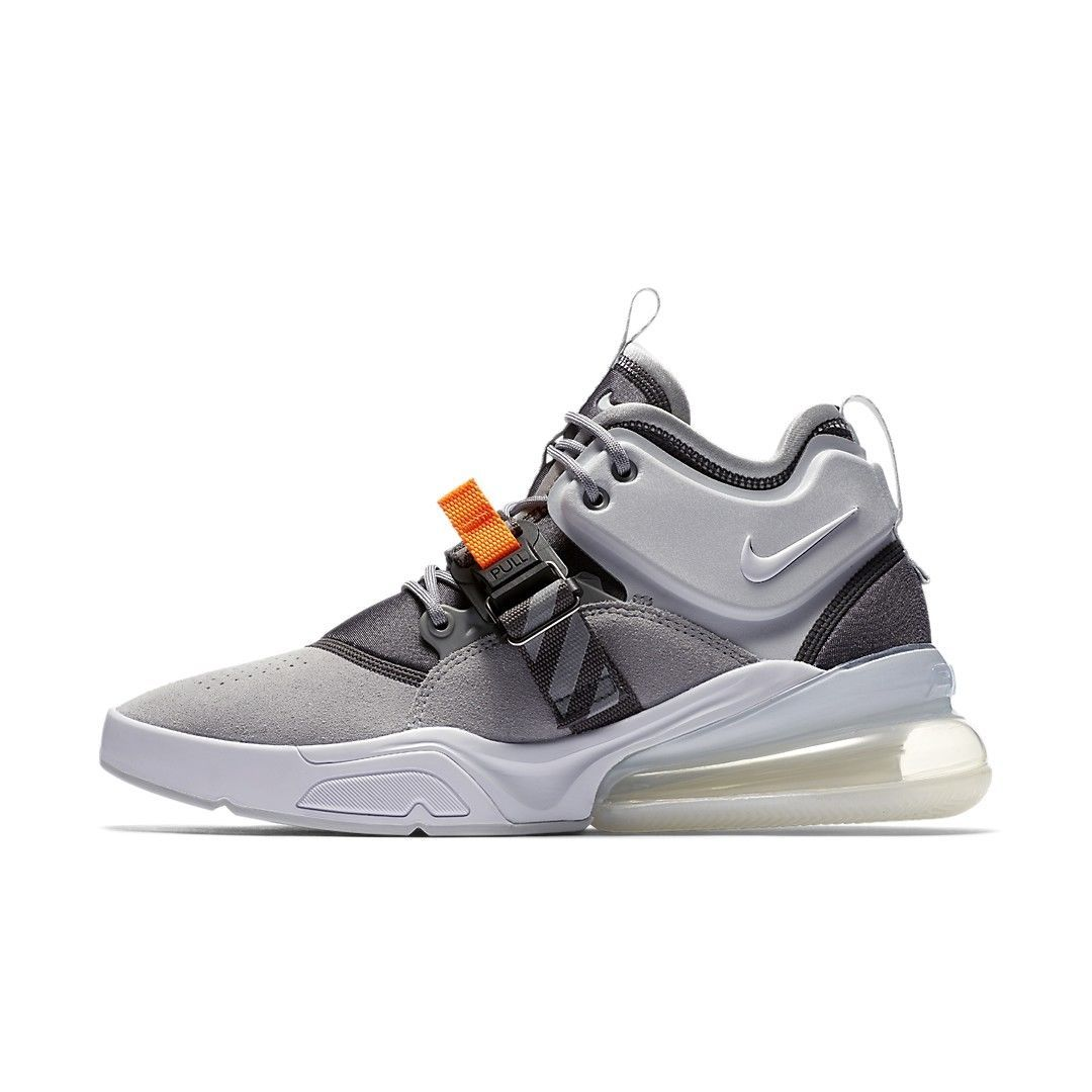 nike air force 270 lupo grigio / ah6772 002 / uomini logo vintage.