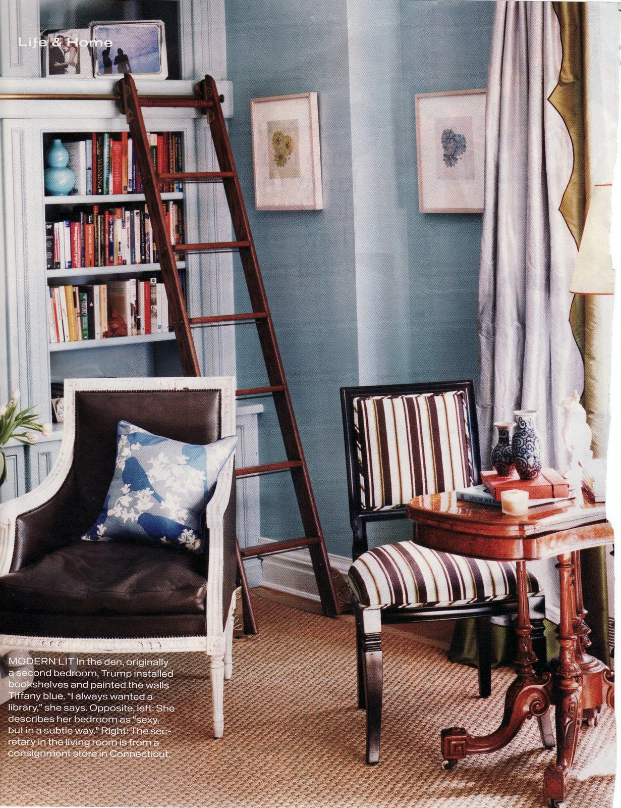 I Want Shelves And A Ladder Like This LOVE The Wall Color