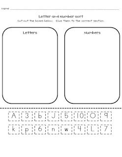 Freebie Number And Letter Sort Uppercase And Lowercase Sort