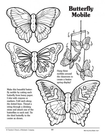 butterfly mobile pattern butterfly mobile. Black Bedroom Furniture Sets. Home Design Ideas