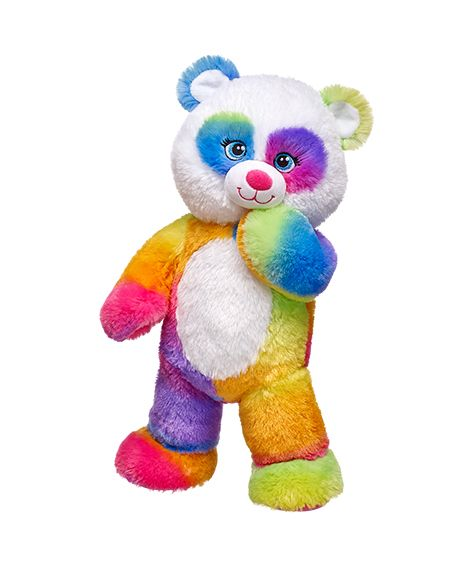 6e8c65c74b5 Build-A-Bear Workshop-United Kingdom  41cm Pop of Colour Panda - she and my  Rainbow Stripes Tiger and Rainbow Glitter Bear are a threesome of