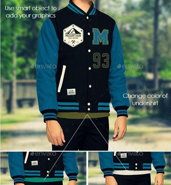 Download Jacket Mockup Varsity And Bomber Jacket Templates Psd Texty Cafe Psd Varsity Jacket Men Mockup Template