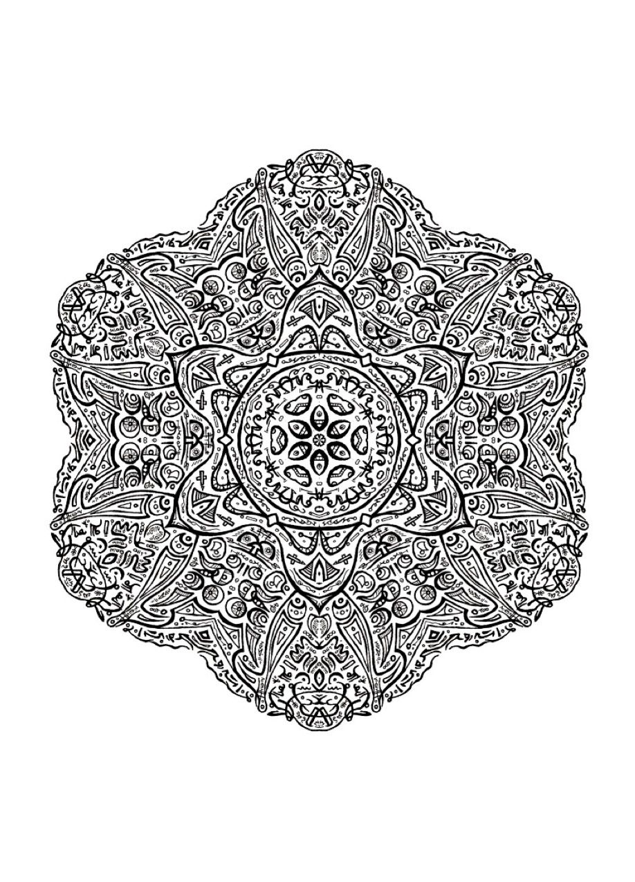 Advanced Mandala Coloring Adults Pagesprintable