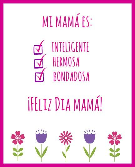 Free Printable Mother S Day Cards In Spanish And English Mothers