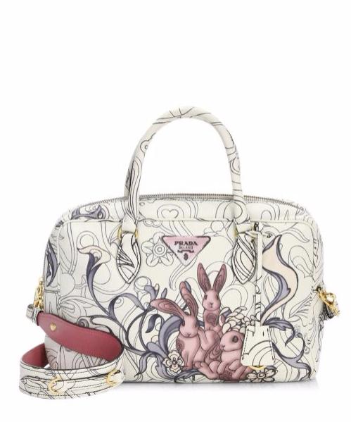 2c362ded79 Prada Rabbit Print Leather Shoulder Bag | bizarre bags in 2019 ...