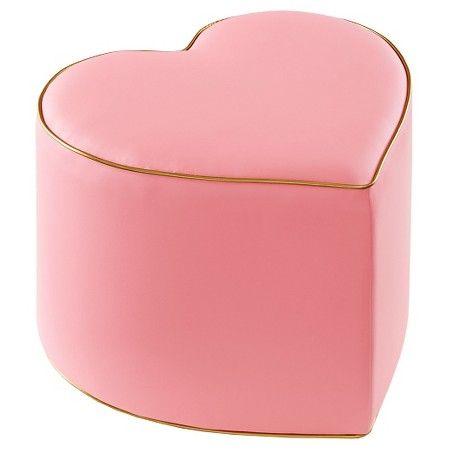 Awesome Oh Joy Heart Ottoman Pink Gold Target Home Goods Inzonedesignstudio Interior Chair Design Inzonedesignstudiocom
