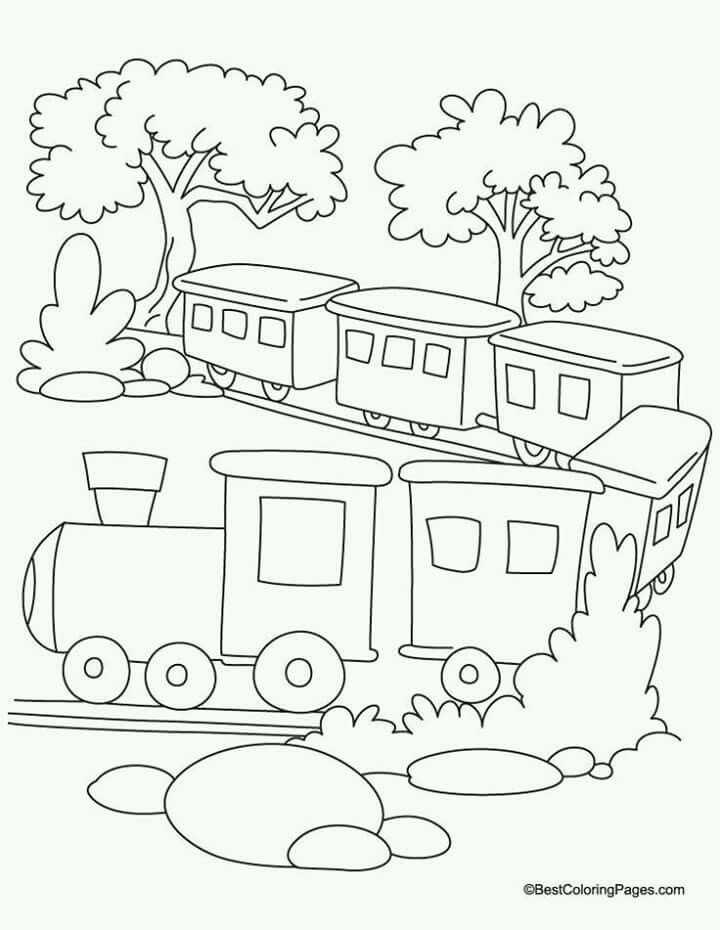 Pin By Iva Krajcova On Omalovanky Train Coloring Pages Free Coloring Pages Free Printable Coloring Pages