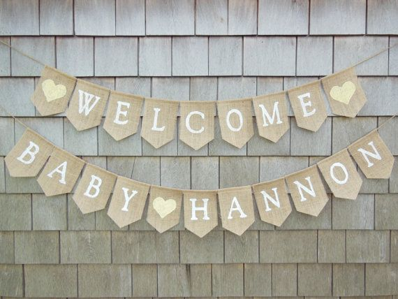 Gender Neutral Baby Shower Decor Welcome by IchabodsImagination