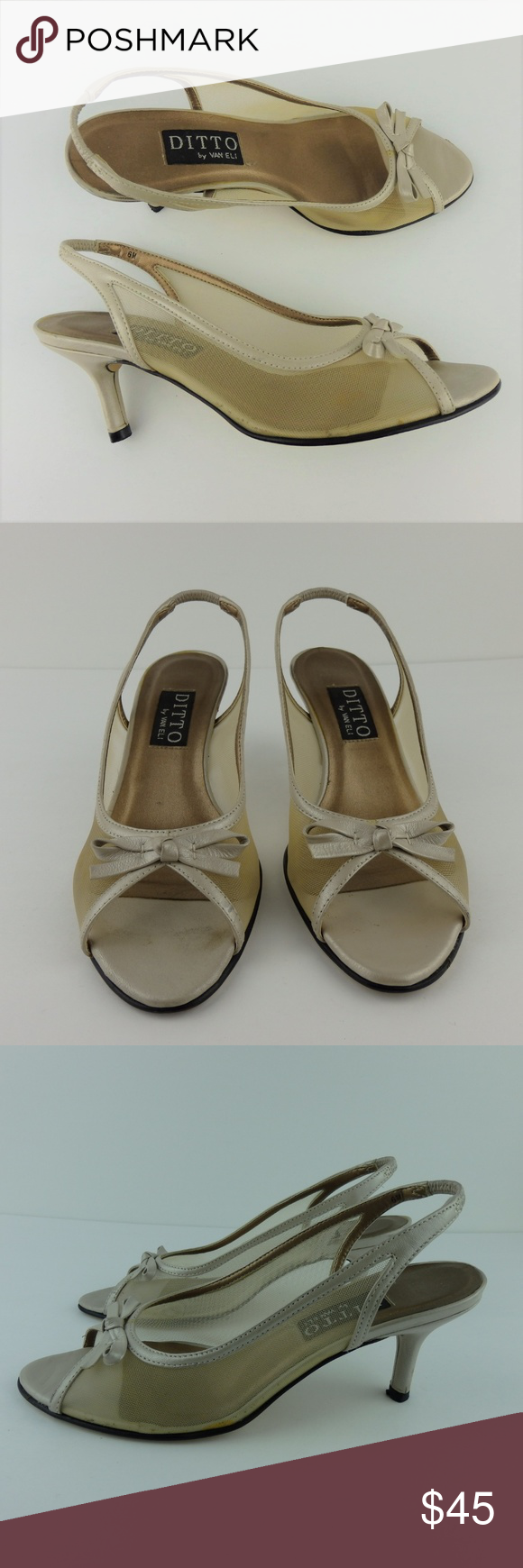 d508e119de7 ... added this listing on Poshmark  Ditto by VanEli Mesh Open Toe Kitten  Heels 6.  shopmycloset  poshmark  fashion  shopping  style  forsale  Vaneli   Shoes