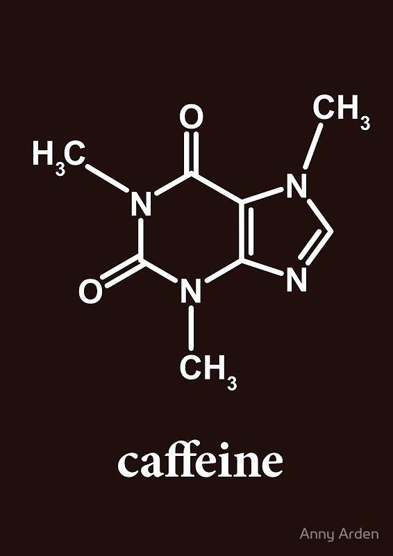 """Photo of """"Caffeine Molecule"""" Spiralblock von Anny Arden"""