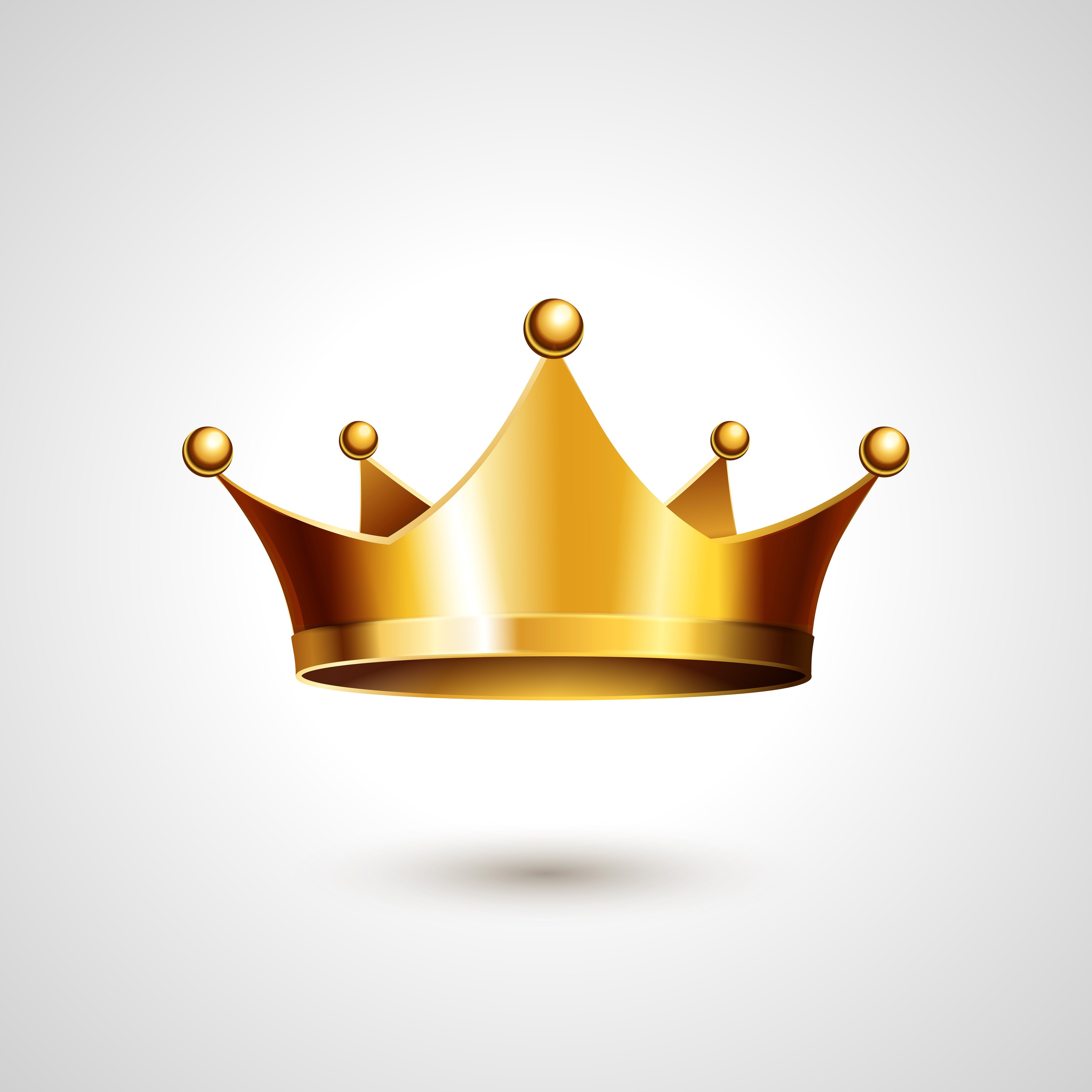 Gold Crown Vector Icon Crown Illustration Crown Drawing Crown Art