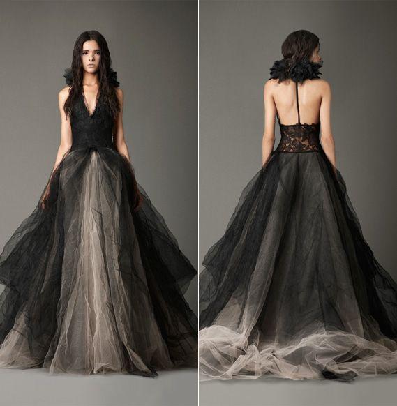 black tulle wedding dress - Vera  schnitt
