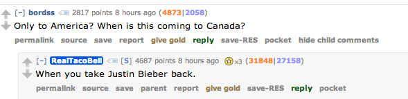 President Of Taco Bell Burns Justin Bieber On Reddit Taco Bell Reddit Burns