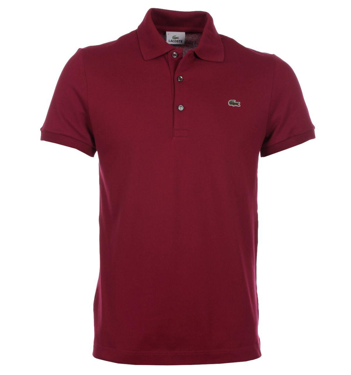 19132b6467 Lacoste Polo Shirts. Lacoste Bordeaux Red Mini Pique Stretch Polo Shirt
