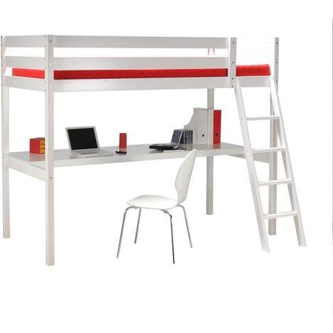 lit mezzanine astrid 90x190 cm + bureau | bedroom2 | pinterest