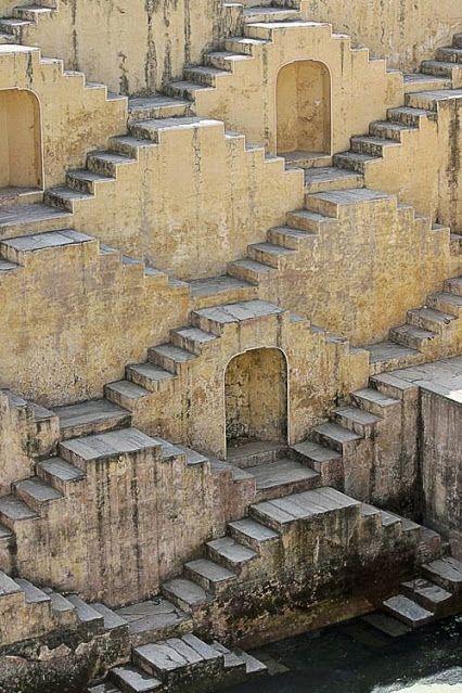 Google+Well of Chand Baori, India. Thirty metres deep, thirteen floors, 3500 steps.