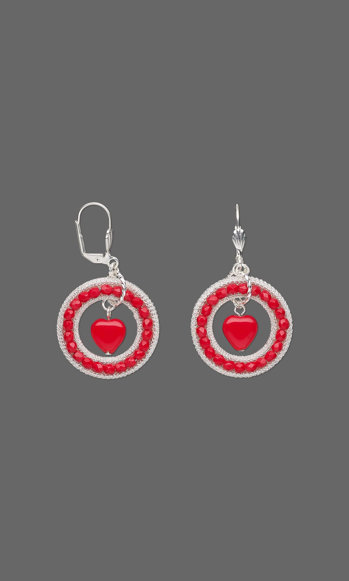 Jewelry Design - Earrings with Czech Glass Beads and Silver-Plated Brass Components - Fire Mountain Gems and Beads