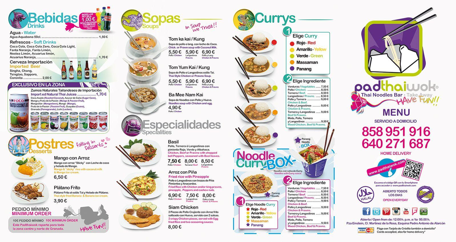 Thai Noodles Bar Take Away Padthaiwok Comida A Domicilio Comida Comida Congelada