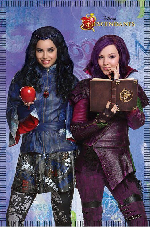Disney S Descendants Mal And Evie Poster Disney Descendants Disney Descendants Mal Disney Channel Descendants