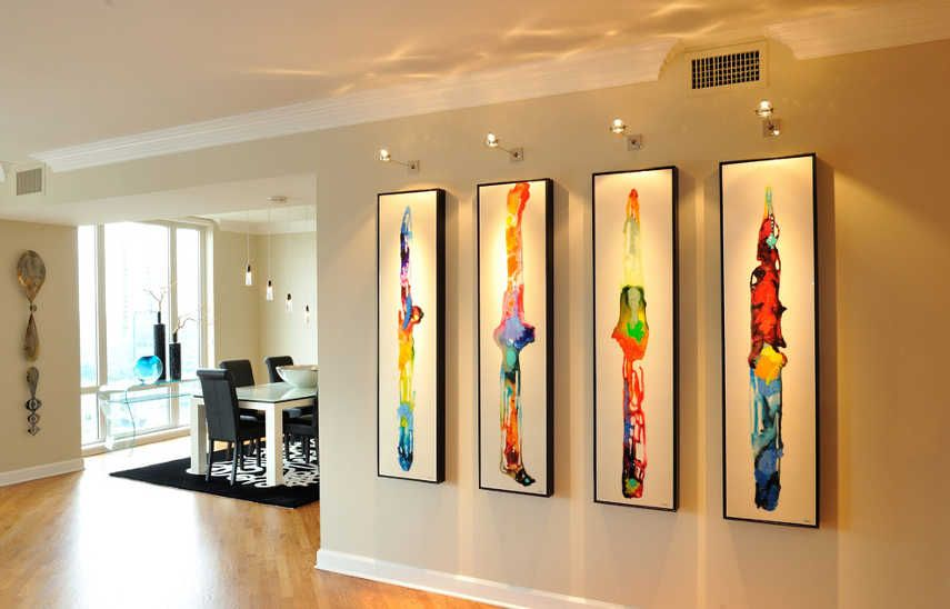 How To Arrange Perfect Lighting For Your Artwork Widewalls Dining Room Wall Decor Dining Room Wall Art Dining Room Contemporary