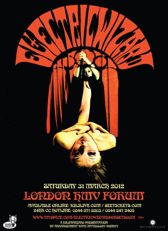 Electric Wizard Poster With Clear Satanic And Occult