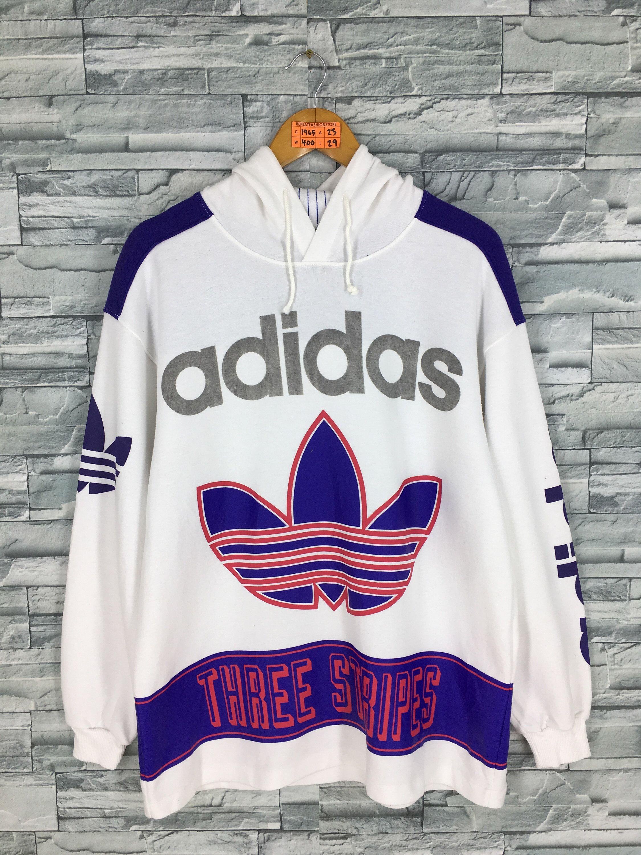Vintage 80s ADIDAS Sweatshirt Large Adidas Sportswear Run