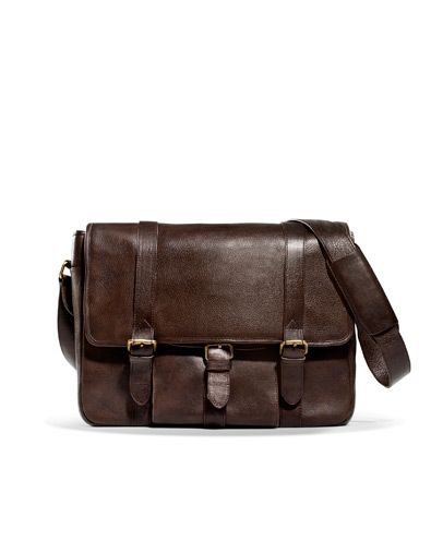 3260f89c7a9 LEATHER MESSENGER BAG - Bags - Man - ZARA United States   Buck