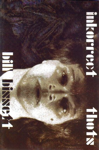 """inkorrect thots"" by bill bissett - winner of the 1993 Dorothy Livesay Poetry Prize"