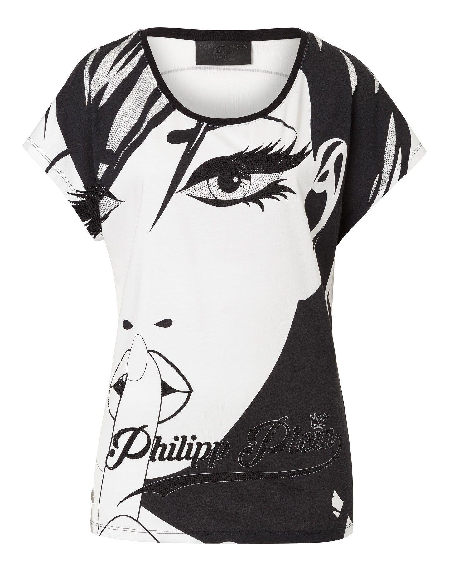 "PHILIPP PLEIN T-SHIRT ""FACE"". #philippplein #cloth #"