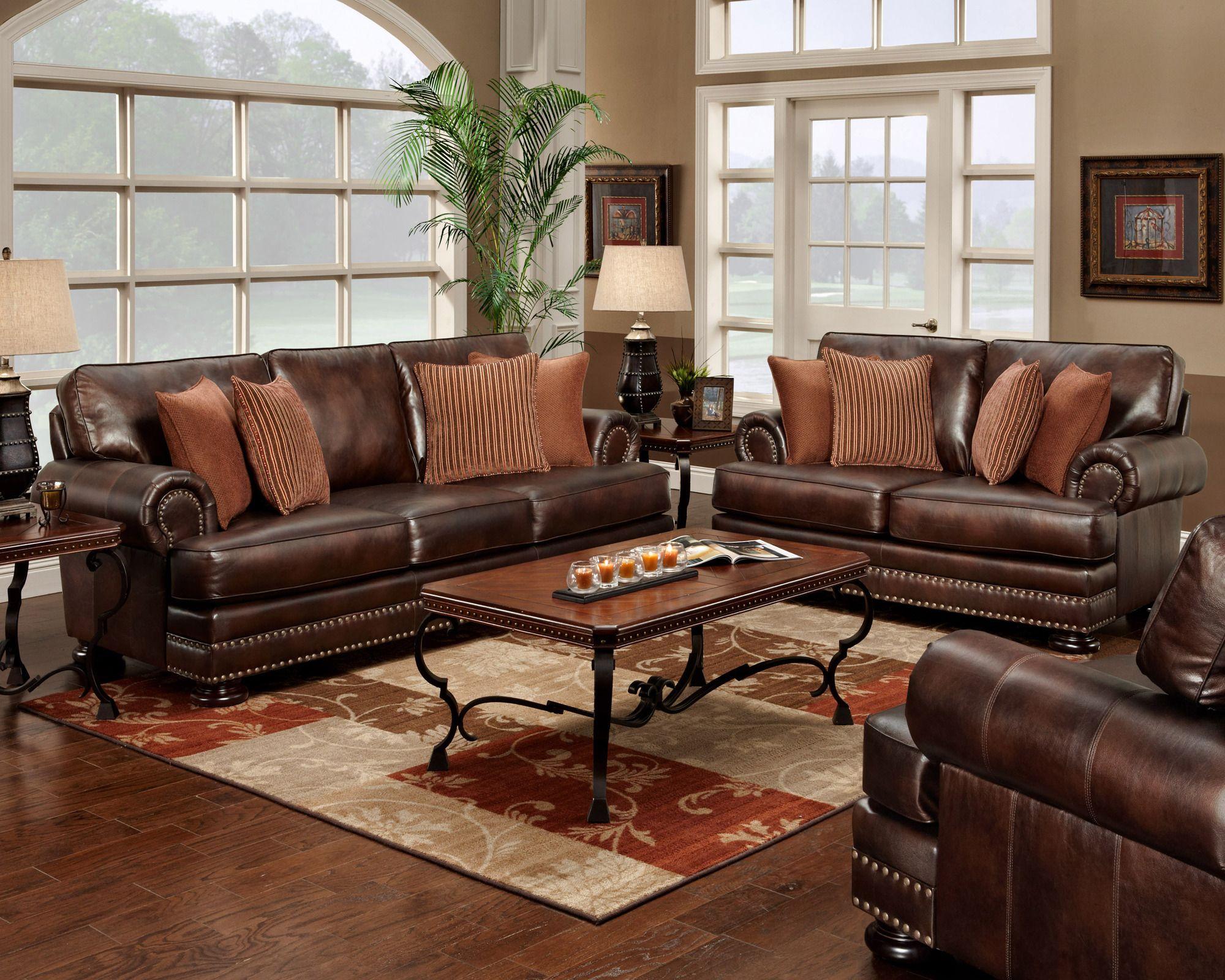 Living Room Sets  Wayfair  Living room leather, Leather living