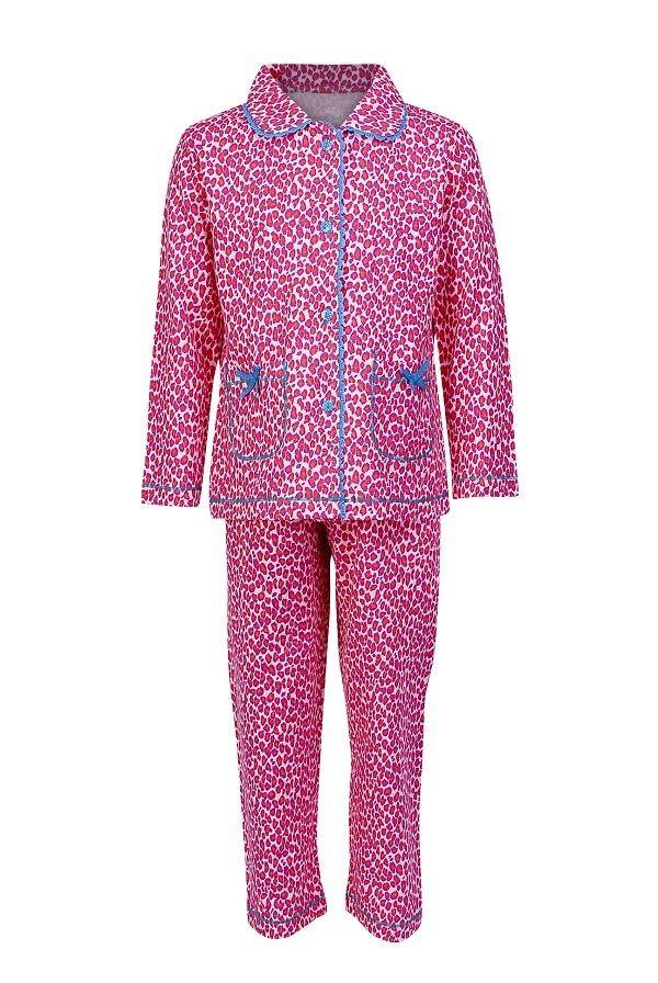 a29f8e7c62d Claesen's pyjama voor meisjes Panther Fuchsia, rose   Kinderpyjama's ...