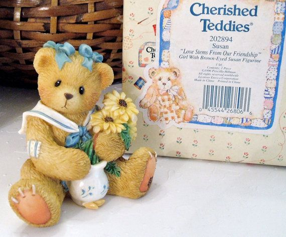 """Cherished Teddies 'Brown-Eyed Susan' ~ """"Love Stems From Our Friendship"""" Retired Vintage Collectible Figurine"""
