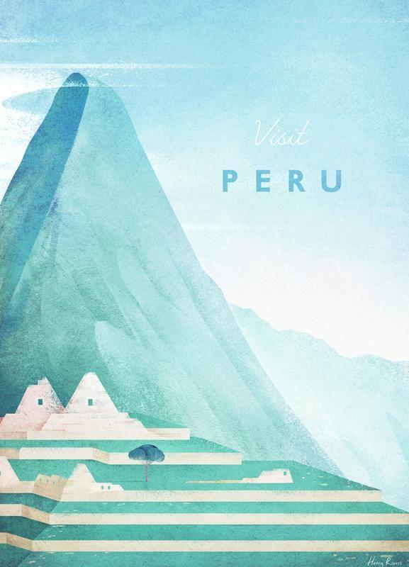 « Peru » par Henry Rivers | #Voyages #Bleu #Turquoise #JUNIQE | Plus daffiches...