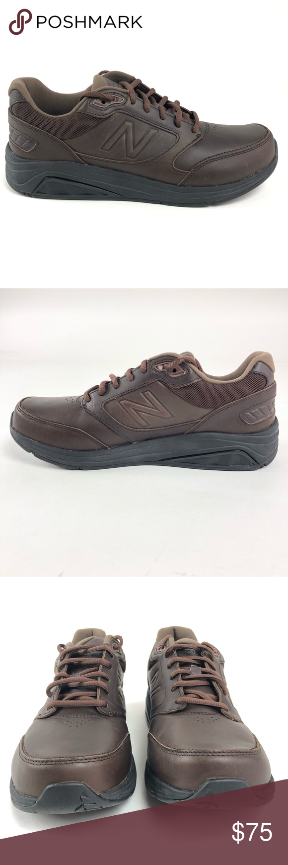 BROWN LEATHER ATHLETIC SNEAKERS NEW
