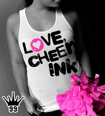These combed ring spun 100% cotten tanks are extra long and perfect for layering. These tanks are H-O-T! Why? Because Cheer Ink loves you.