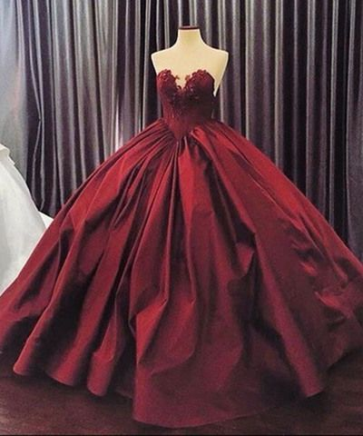 crimson matte satins sweetheart lace a line ball gown. Black Bedroom Furniture Sets. Home Design Ideas