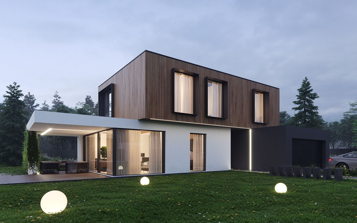House Iv On Behance Architect House Modern Architecture House Facade House