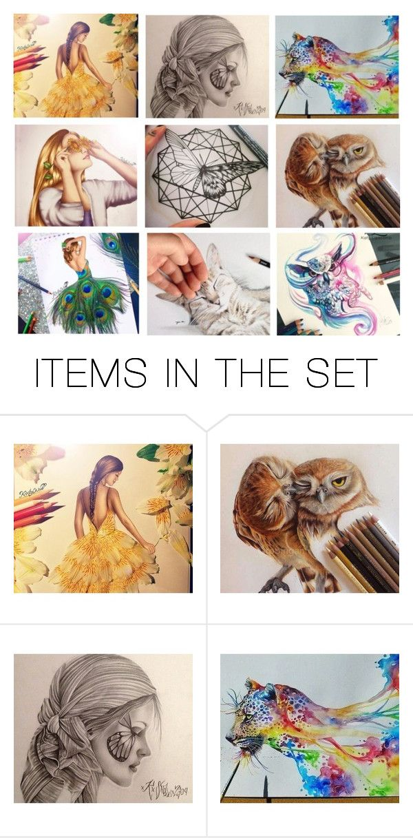"""""""Life in colours"""" by heartandsoul ❤ liked on Polyvore featuring art, life, expression, girl, animal and artexpression"""