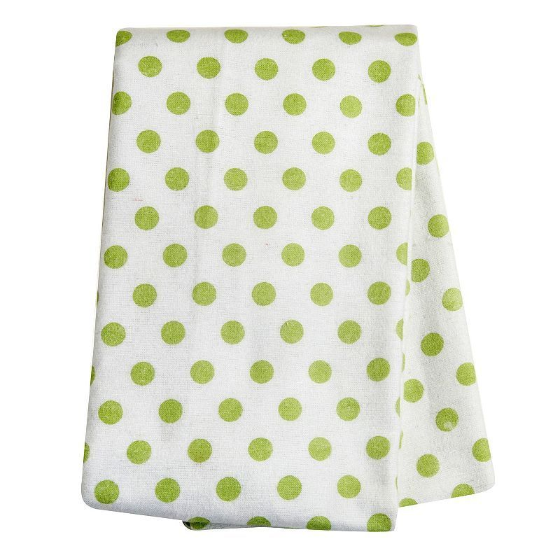 Trend Lab Baby Neutral Printed Flannel Swaddle Blanket, Green