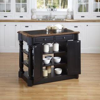 Americana Granite Kitchen Island | Overstock.com Shopping ...